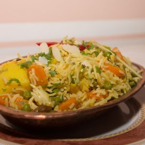 Byriani di riso basmati (risotti)